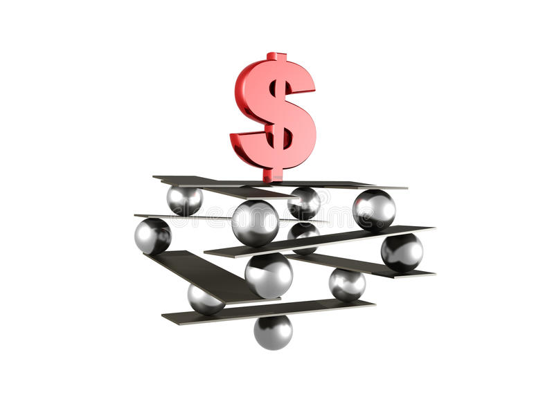 Stabilité du dollar illustration libre de droits