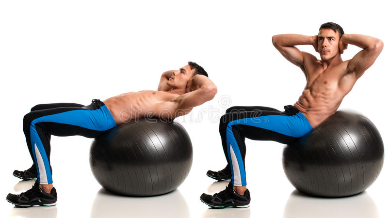Stability Ball Exercise stock photos