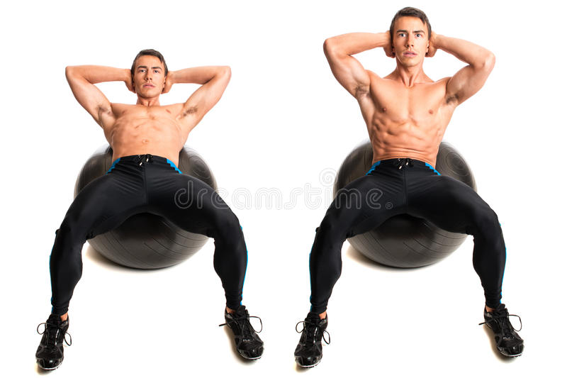Stability Ball Exercise royalty free stock image