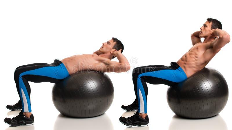 Stability Ball Exercise royalty free stock photos