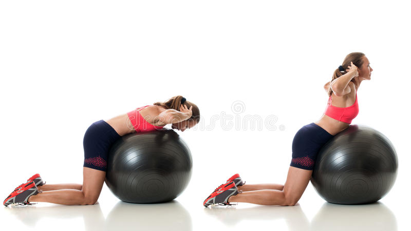 Stability Ball Exercise royalty free stock images