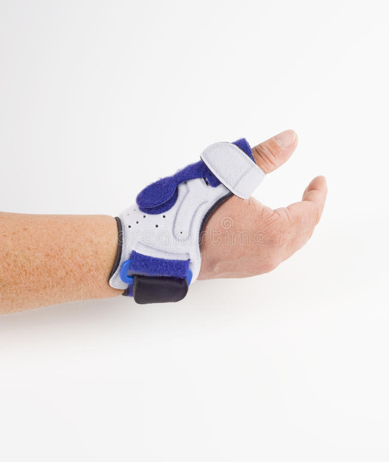 Stabilizing orthosis, thumb support royalty free stock photos
