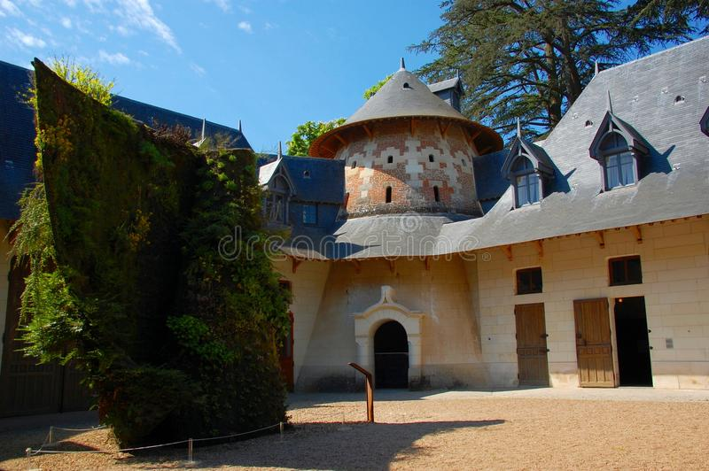 Stables of the Château de Chaumont, France. Stables of the Château de Chaumont, one of the French castles on Loire stock photos