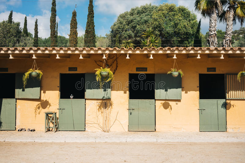 Stables for horses royalty free stock photography