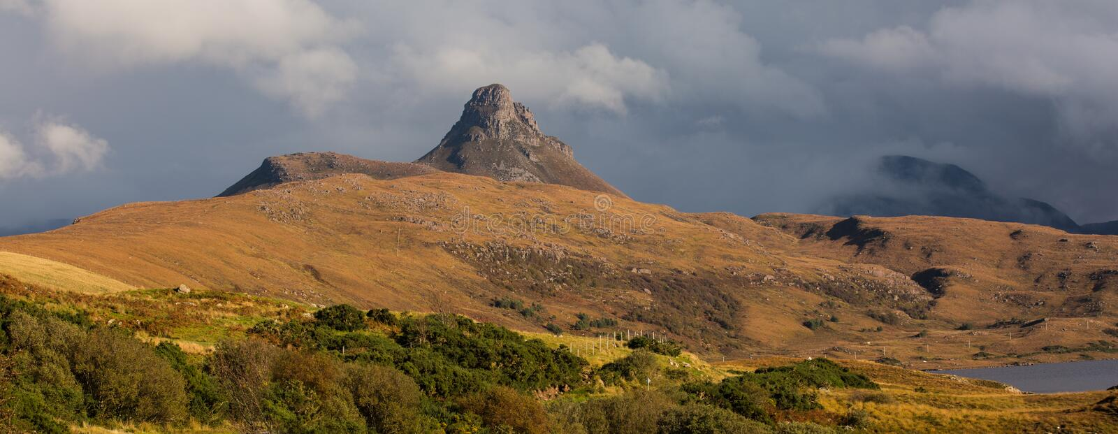 Stac Pollaidh stock afbeelding