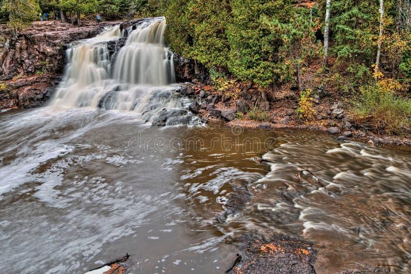 Stachelbeere fällt Nationalpark auf Minnesota-` s Nordufer des Oberen Sees im Sommer stockfoto