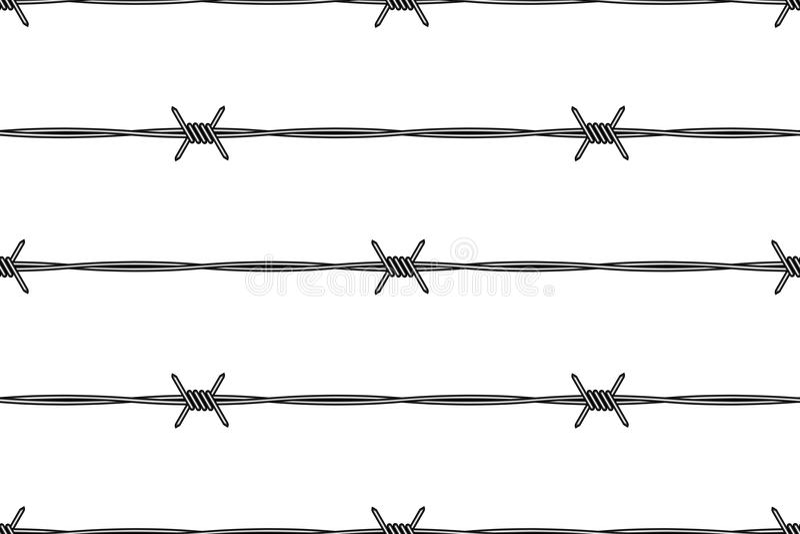 Stacheldraht stock abbildung