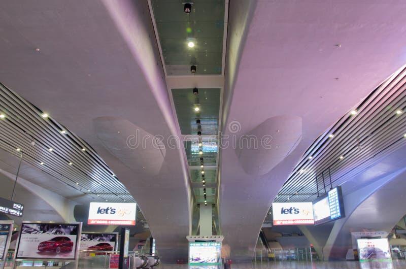 Staci kolejowej sala GuangZhou południe obrazy royalty free