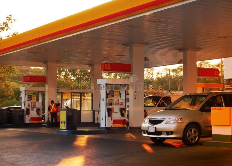 stacja benzynowa fotografia royalty free