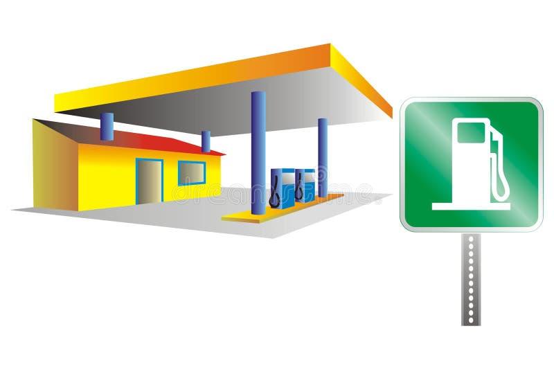 stacja benzynowa ilustracji