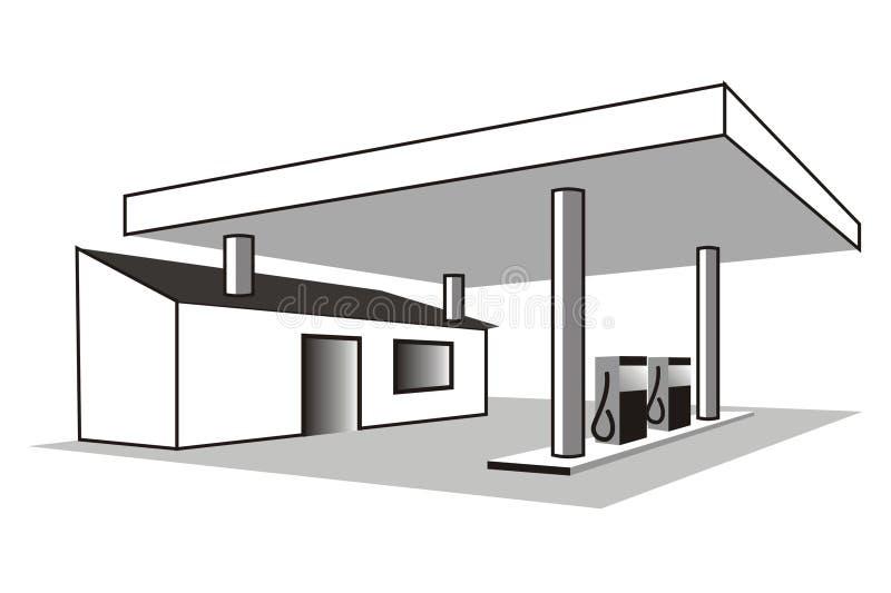 stacja benzynowa royalty ilustracja