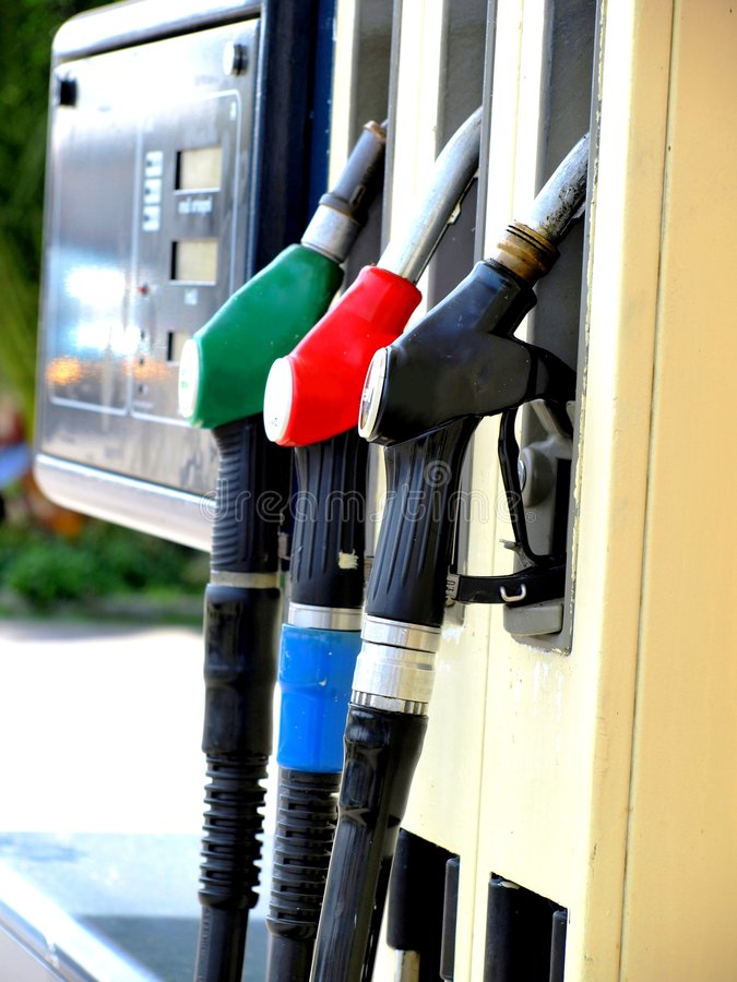 stacja benzynowa zdjęcia stock