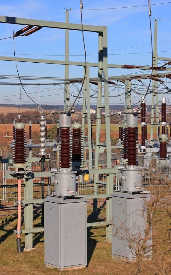 stacja energii elektrycznej fotografia stock