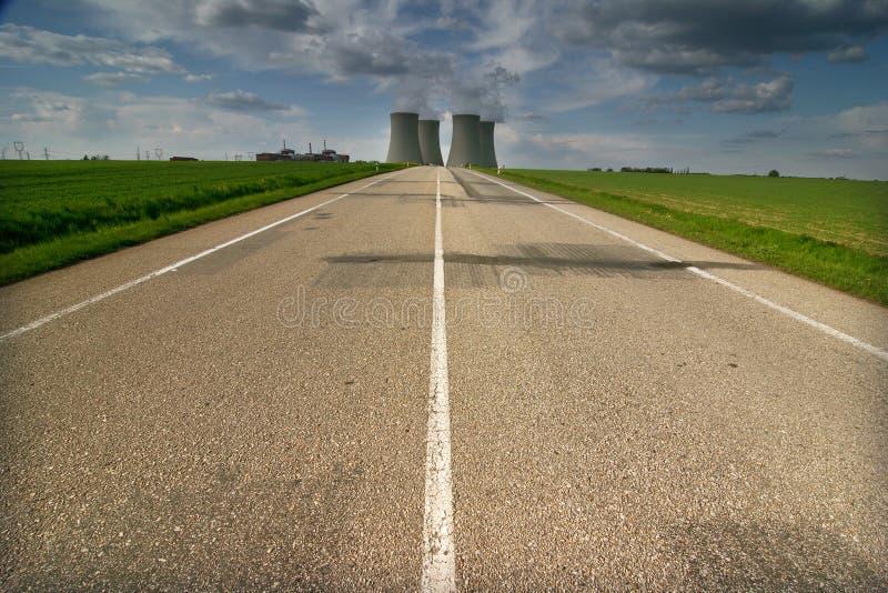 stacja energii jądrowej obraz royalty free