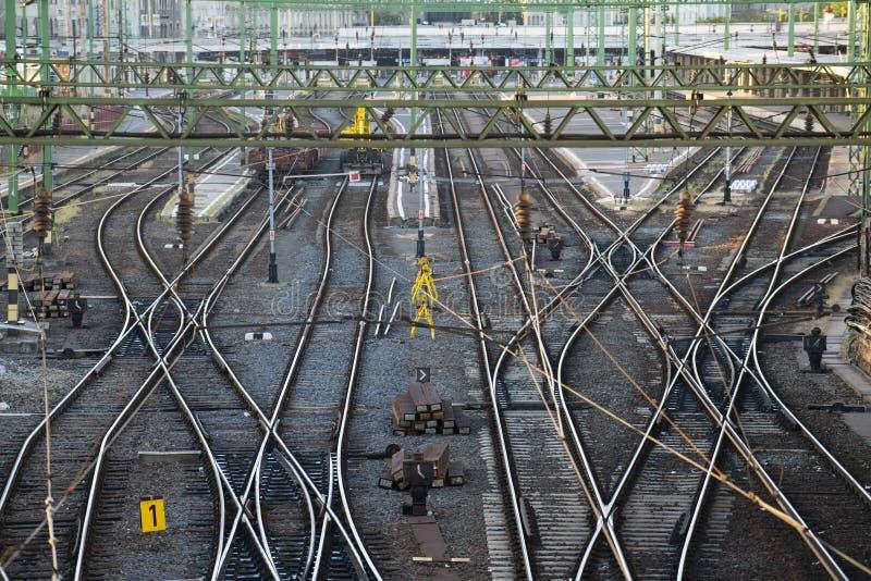 Stacja kolejowa ślada obrazy royalty free
