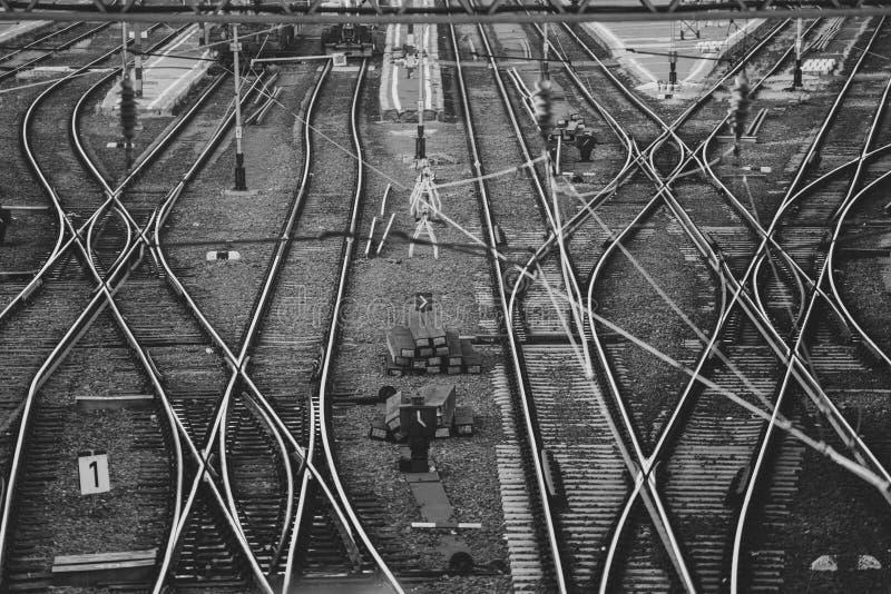 Stacja kolejowa ślada zdjęcie stock