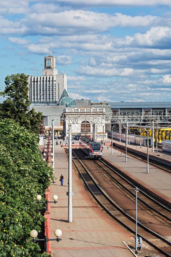 Stacja kolejowa minsk stacja Białoruś, obrazy stock
