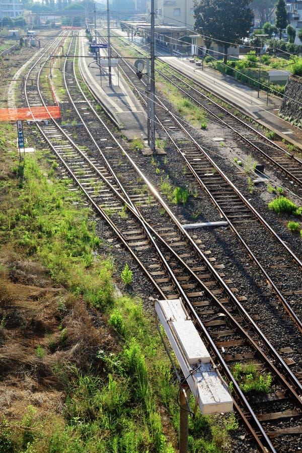 Stacja kolejowa Nettuno Włochy obraz royalty free