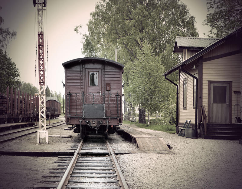 stacja kolejowa rocznik zdjęcie royalty free