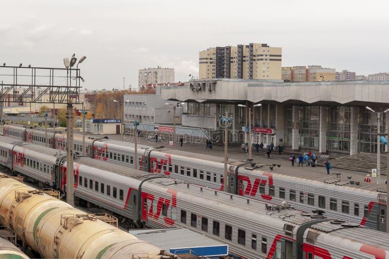 Stacja kolejowa Surgut fotografia royalty free