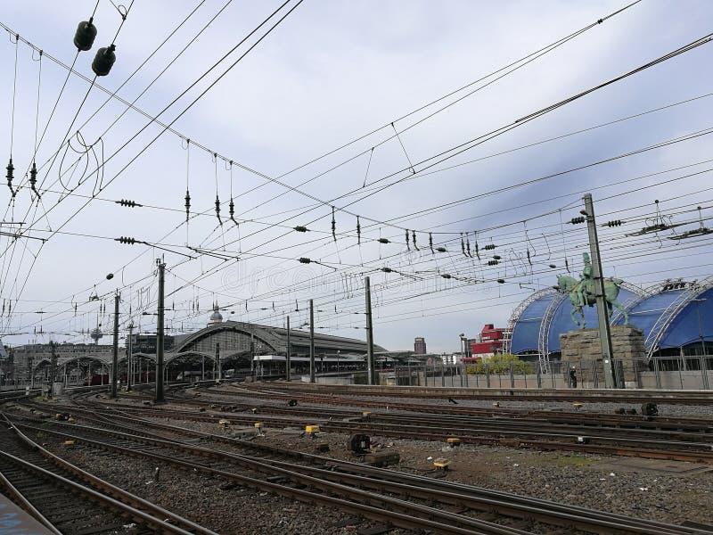 Stacja kolejowa w colognes ` mieście fotografia stock