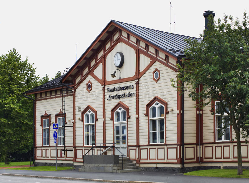 Stacja kolejowa w Kokkola Finlandia obraz stock