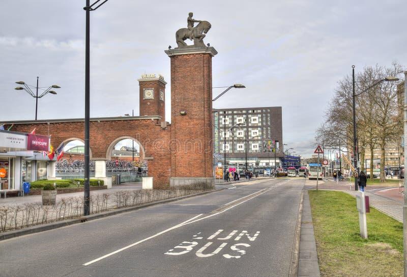 Stacja kolejowa w Nijmegen, Holandia fotografia stock