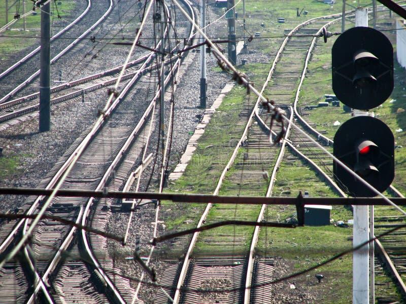 Stacja kolejowa w Ukraina zdjęcia stock