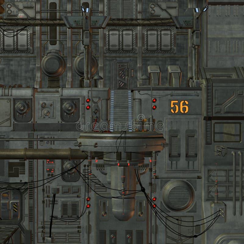 stacja kosmiczna royalty ilustracja
