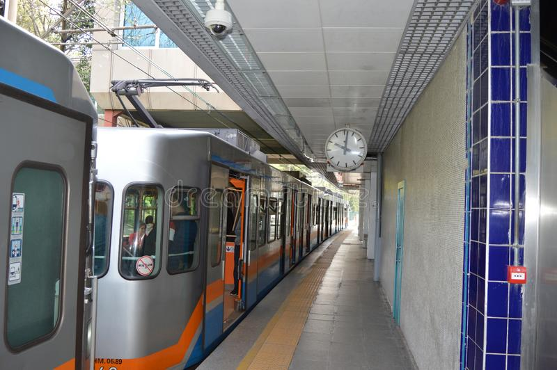 Stacja Metra w Istanbu?, outside zdjęcia royalty free