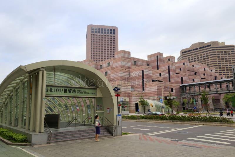 Stacja metru (Taipei 101/handel światowy) zdjęcie royalty free