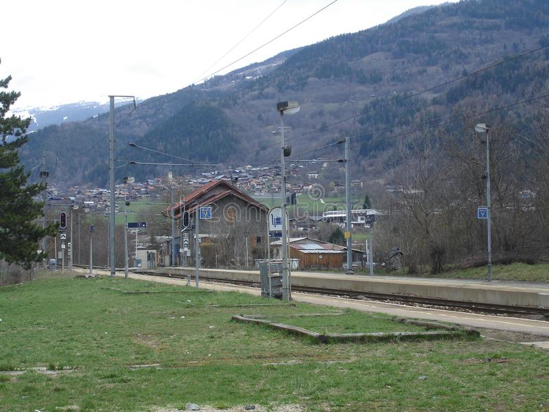 Stacja podobieństwo los angeles Plagne, Francja - zdjęcie royalty free