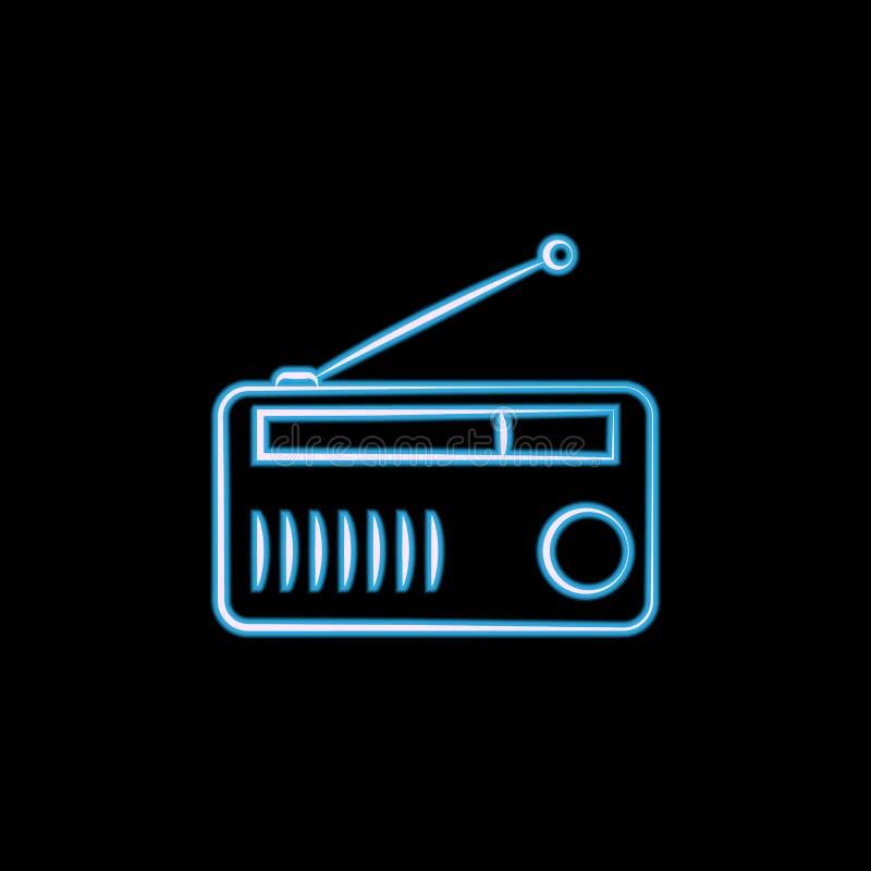 stacjonarna melanżer ikona w neonowym stylu Jeden logo elctricity rzeczy inkasowa ikona może używać dla UI, UX ilustracja wektor
