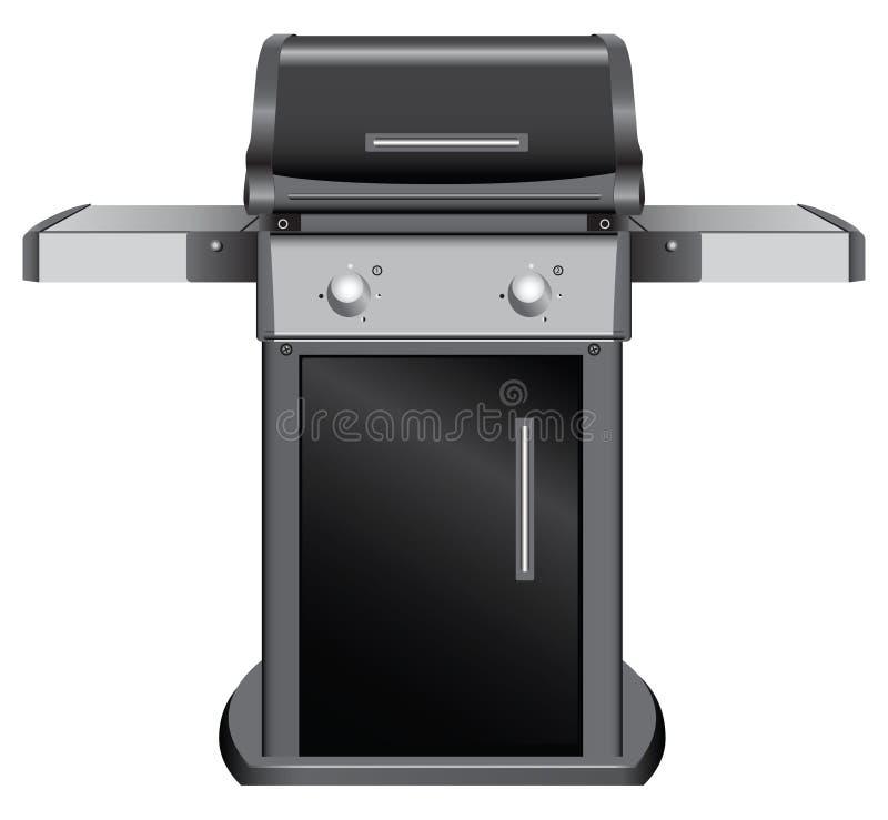 Stacjonarny grill ilustracji