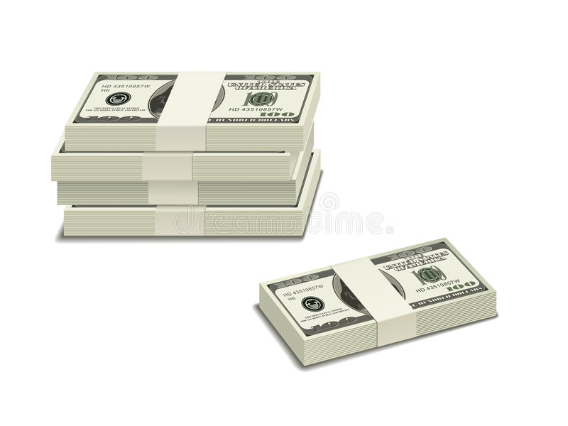Stack Of $100 Bills Royalty Free Stock Photos
