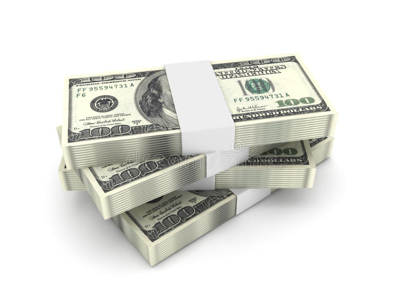 Download Stack Of 100 Dollar Bills Stock Photos - Image: 14153703
