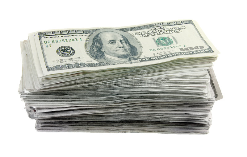 Download Stack of 100 Dollar Bills stock image. Image of rich, wealth - 7093857