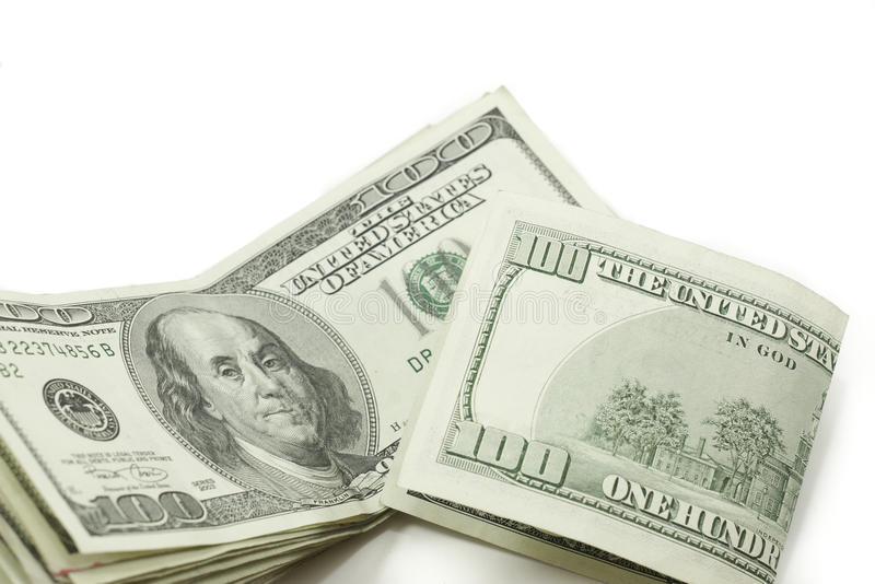 Download Stack Of 100 Dollar Bills One Folded Stock Images - Image: 23002684
