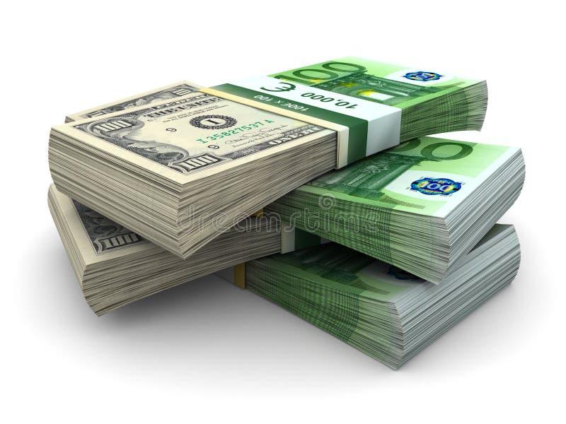 Download Stack of 100 Eurodollar stock illustration. Illustration of background - 4653262
