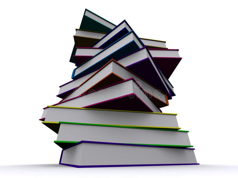 Stack of 3d books stock image