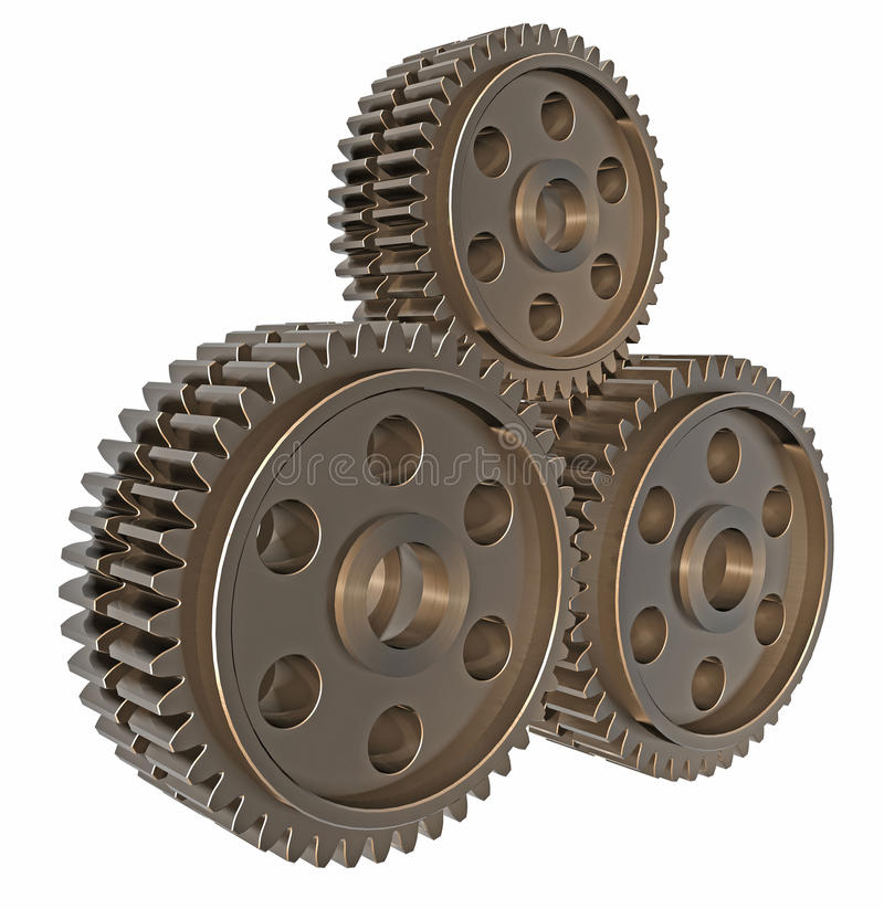Download Stack Of 3D Gears Royalty Free Stock Photography - Image: 14261857