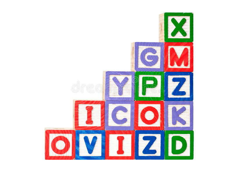 Download Stack of alphabet blocks stock image. Image of colorful - 23863365