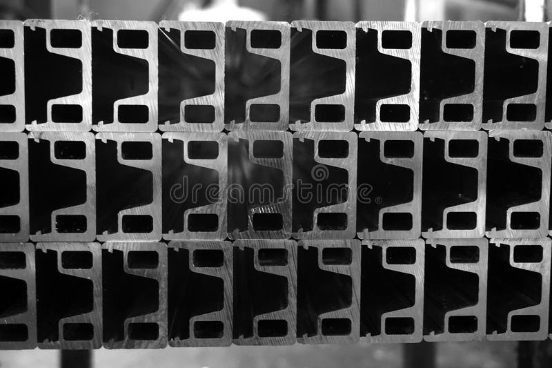 Stack of aluminum casting. Abstract stack of aluminum casting for background used stock image