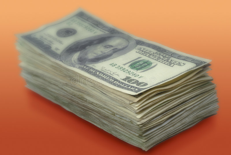 Download Stack Of American Paper Money Stock Photo - Image: 5564124