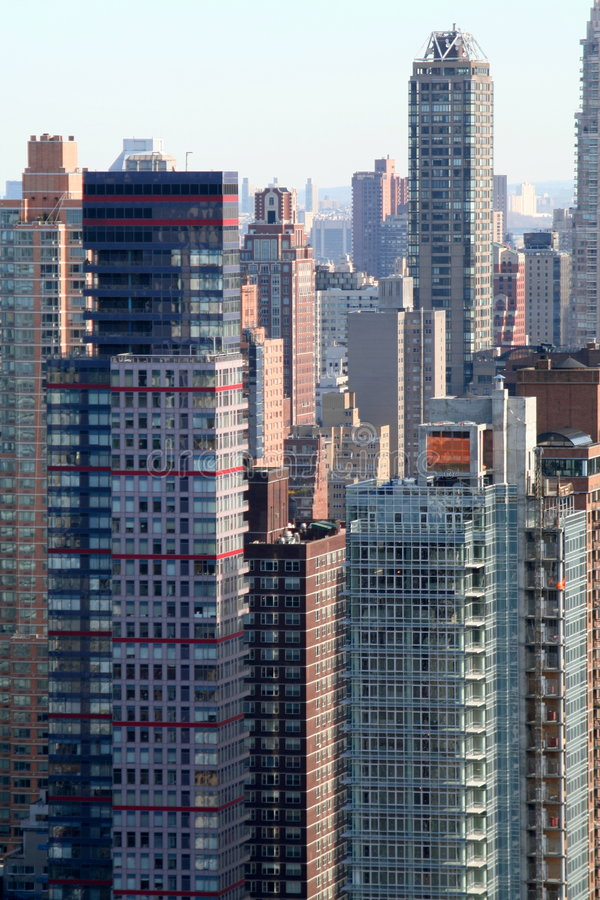 Stack of appartment buildings. In New York City royalty free stock image