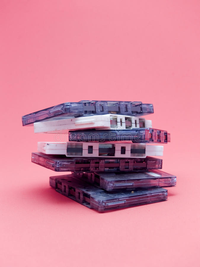 Download Stack of audio cassettes stock photo. Image of medium - 11917622