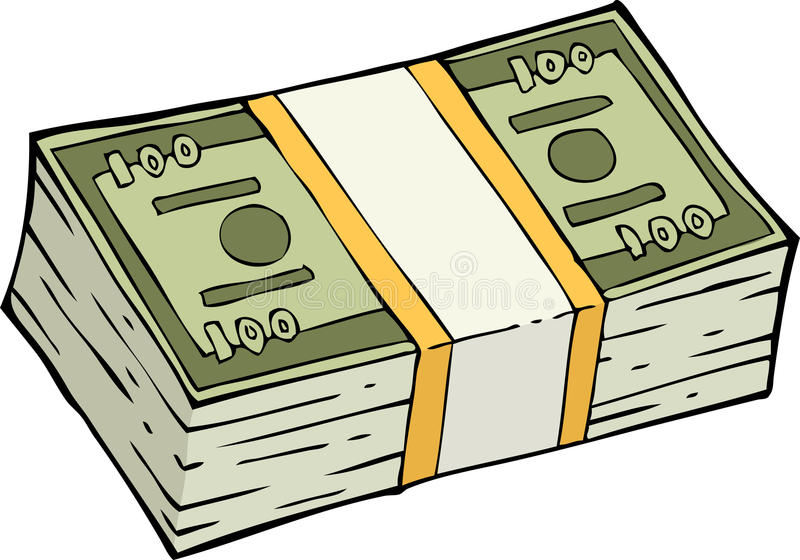 Download Stack of banknotes stock vector. Illustration of luck - 41449454