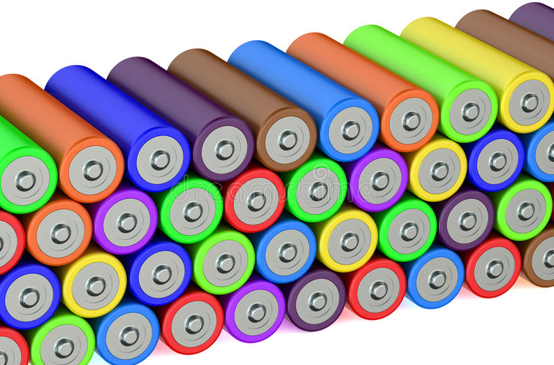 Stack of batteries stock illustration