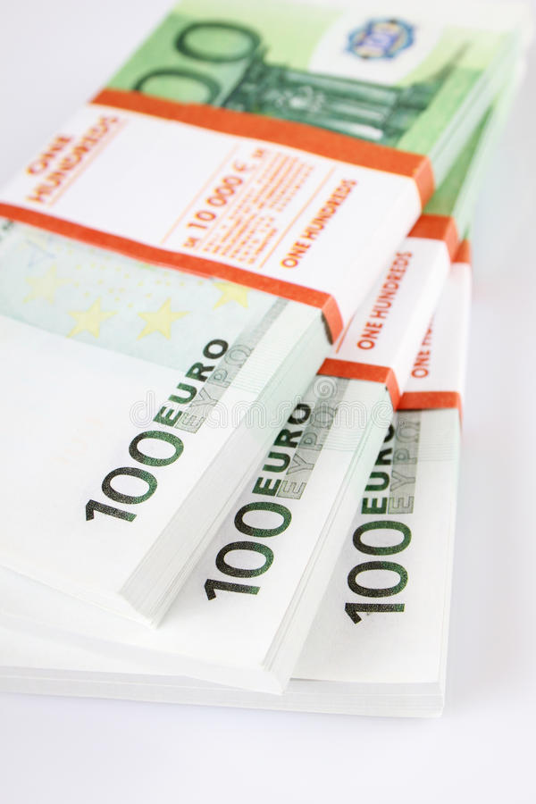 Download Stack of 100€ bills stock photo. Image of investment - 33583366