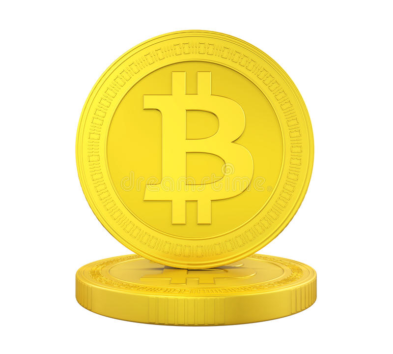 Stack of Bitcoins Isolated royalty free illustration